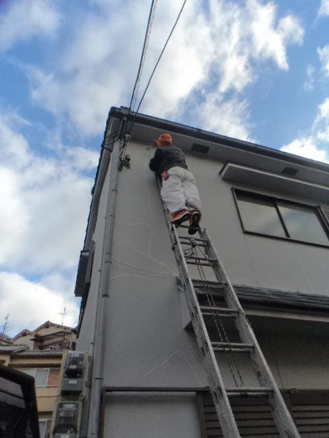 大阪府八尾市垣内で外壁のひび割れ補修