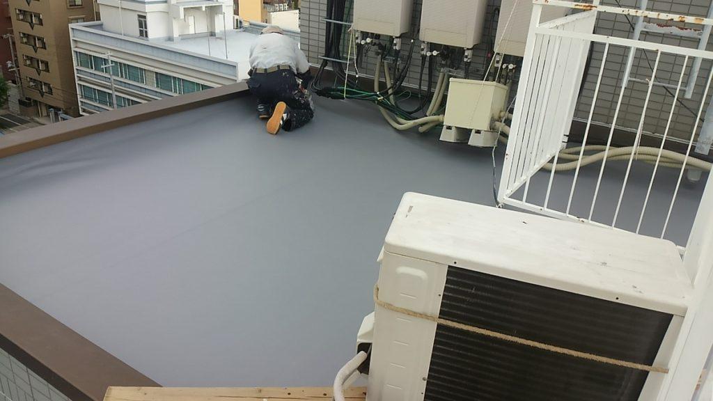 大阪市東淀川区で屋上防水ー大阪府八尾市の宮川塗装