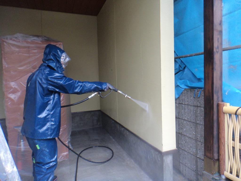 大阪府八尾市安中町で高圧洗浄-建築塗装・防水工事の事なら宮川塗装