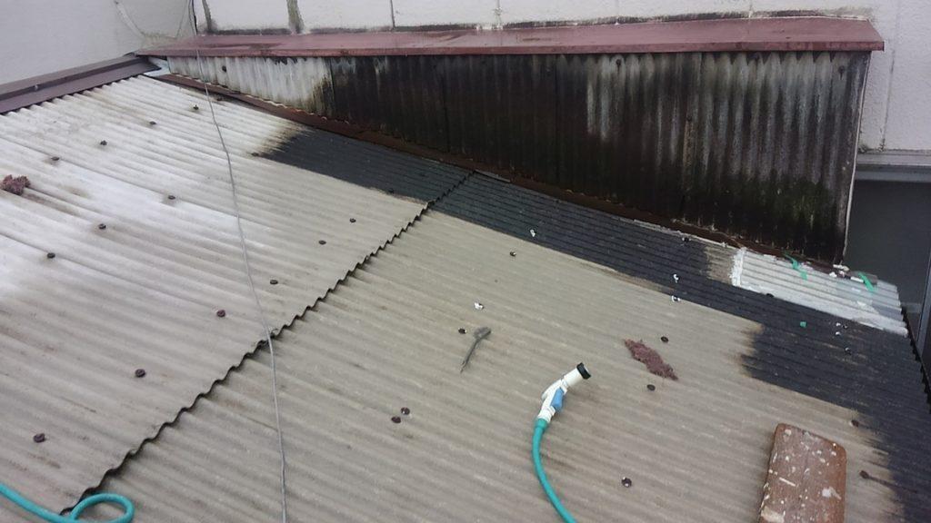 大阪府門真市で波型スレート屋根塗装-八尾市の宮川塗装