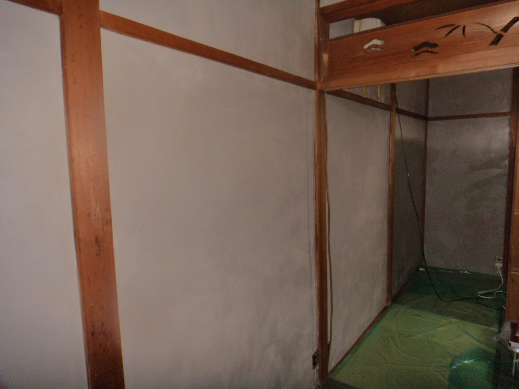 八尾市東町で和室の聚楽工事