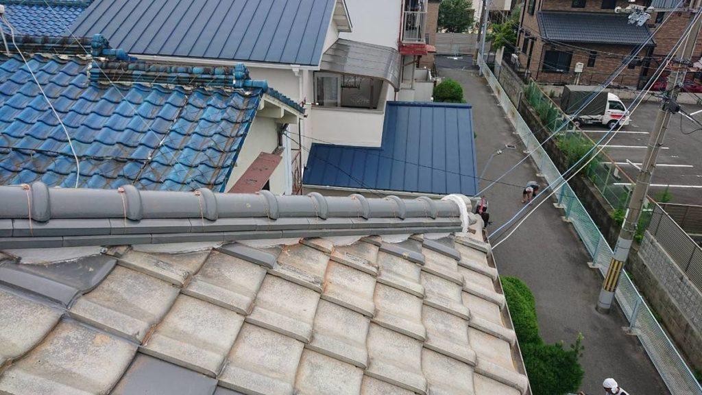 八尾市の高安で屋根瓦補修