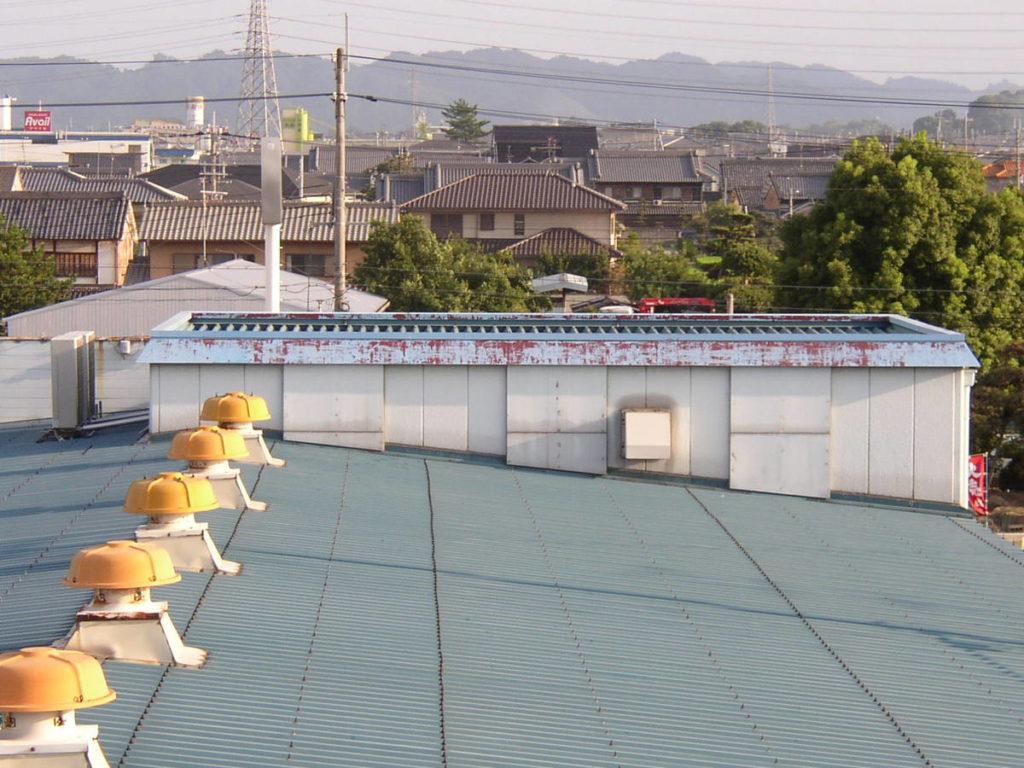 奈良県新庄市の店舗折板屋根塗装工事