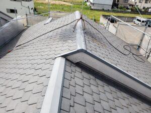 八尾市旭ヶ丘で屋根塗装前