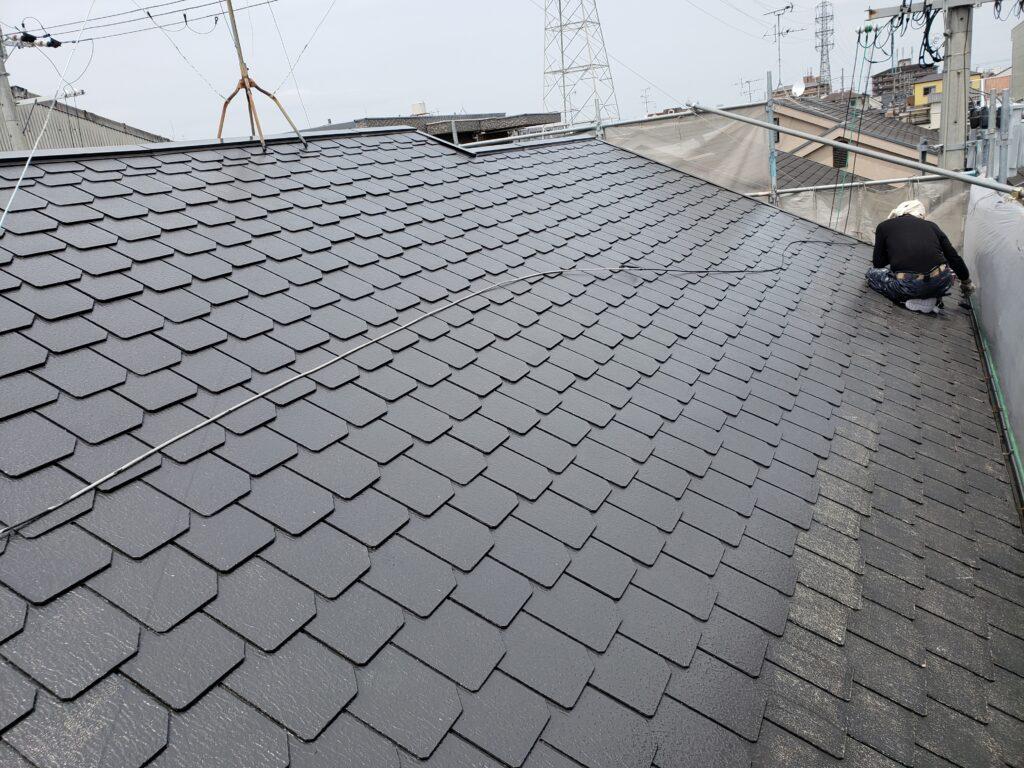 八尾市旭ヶ丘で屋根塗装