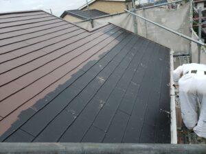 カラーベスト屋根上塗り1